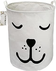 FANKANG Large Laundry Hamper Bucket Waterproof Coating Storage Bin Collapsible Washing Basket Home Nursery Toy Organizer  Dog