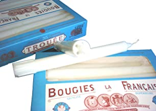 Bougies La Francaise Box of 20 Traditional Trouees Dripless Candles