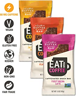 Eat Your Coffee Variety Pack | 15 Bars | Vegan, Gluten-free, Non-GMO, Kosher | Ethically Sourced Natural Caffeine With Clean Ingredients