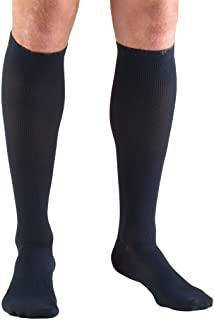 Truform Compression Socks, 20-30 mmHg, Men's Dress Socks, Knee High Over Calf Length, Navy, X-Large