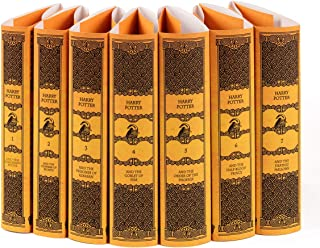 Juniper Books Harry Potter Hufflepuff House Custom DUST JACKETS ONLY (Books Not Included)   for Your Seven-Volume Hardcover Book Set