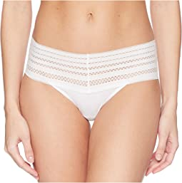 Classic Cotton Wide Lace Trim Thong