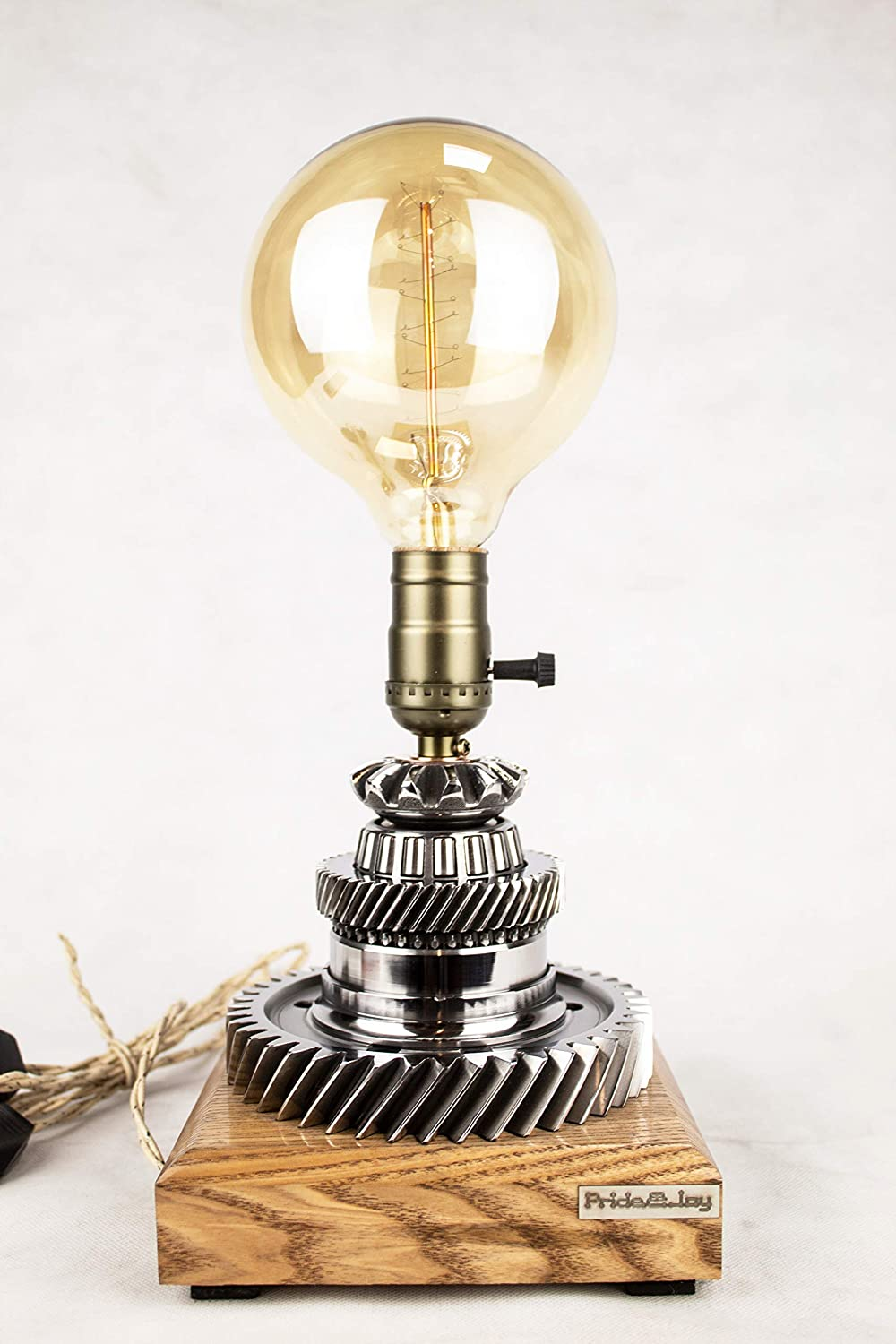Industrial List price Table Lamp PrideJoy steampunk Max 79% OFF part lamp car for Gift