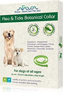 Arava Dead Sea Pet Spa - Flea and Tick Botanical Collar for Dogs - Free of Hazardous Chemicals - Active Natural Ingredient...