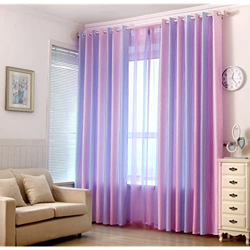 Pink and Blue Room Curtains: Amazon.com