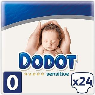 Dodot Protection Plus Sensitive Pañales Talla 0 (1.5 a 2.5 kg), 24 Pañales