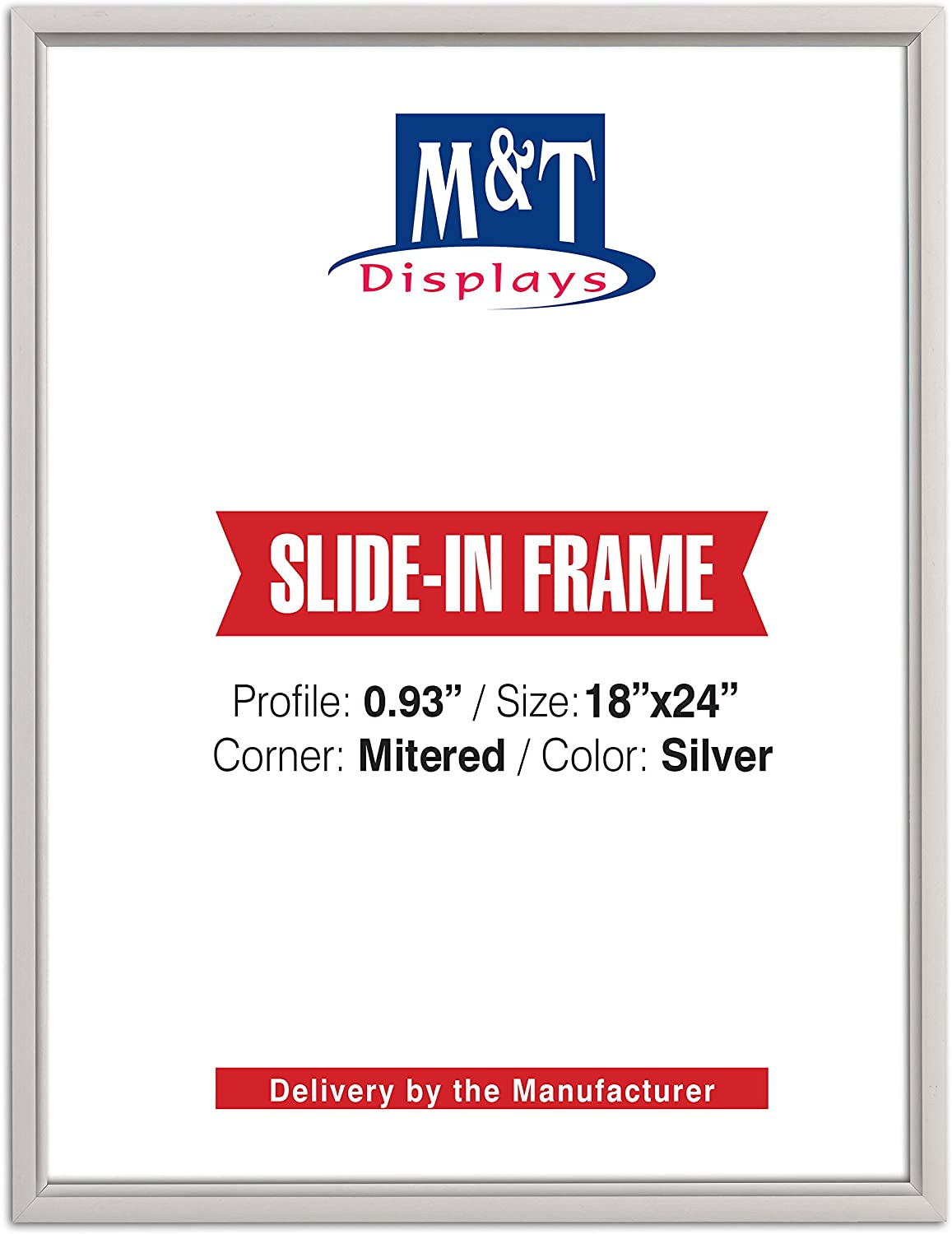 DisplaysMarket Slide Finally resale Limited time for free shipping start in Frame 18x24 Co Silver Poster 0.93