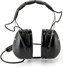3M Peltor Listen-Only Headset, MP3 and 2-Way Radio Compatible, Hearing Protection, Gray, Ear Protection, NRR 25 dB, Excellent for heavy equipment operators, airport workers, racing, and construction