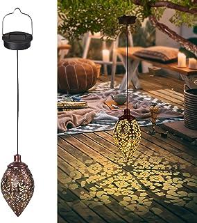 Godesth 2 Pack Hanging Solar Lanterns, LED Hanging Solar Lights Outdoor Decorative Solar Lights Waterproof Outdoor Lantern...