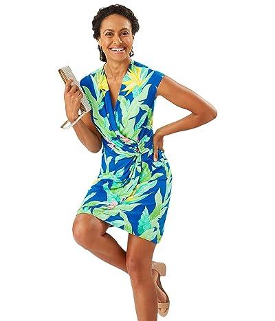 Tommy Bahama Nirvana Night Faux Wrap Dress (Turkish Sea) Women
