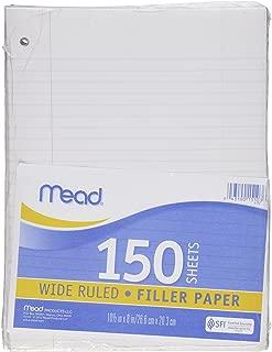 Mead Filler Paper, Loose Leaf Paper, Wide Ruled Paper, 150 Sheets, 10-1/2