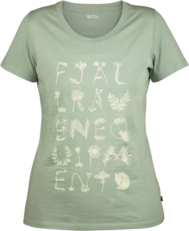 FJ/ÄLLR/ÄVEN Damen Alphabotanical T-Shirt W Blusen /& T-Shirts
