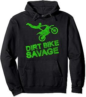 دوچرخه خاکی Savage Kids Motocross Distched Youth Rider Gift Pullover Hoodie