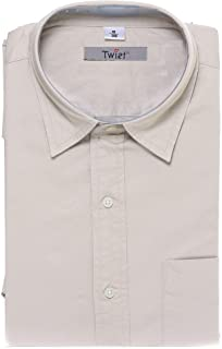 TWIST99 Men's Italian Cotton Solid Half Sleeve Mens Formal Shirt