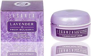 Crema de noche calmante con aceite esencial de lavanda búlgara Leganza