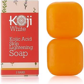 Pure Kojic Acid Skin Brightening Soap for Glowing & Radiance Skin, Dark Spots, Rejuvenate, Uneven Skin Tone (2.82 oz / 2 Bars) | Maximum Strength, SLS-free, Paraben-free