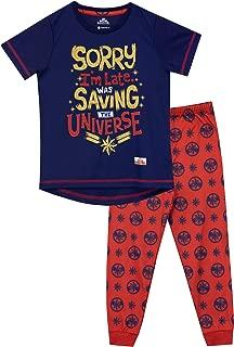 girls captain america pajamas