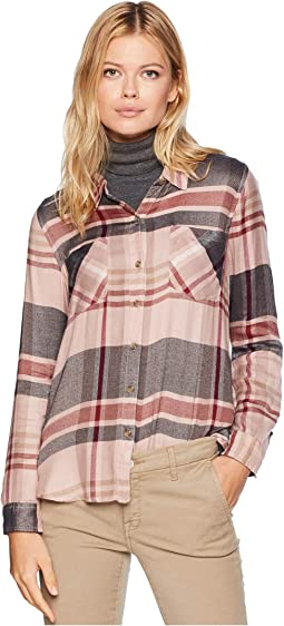 Button Side Plaid Shirt