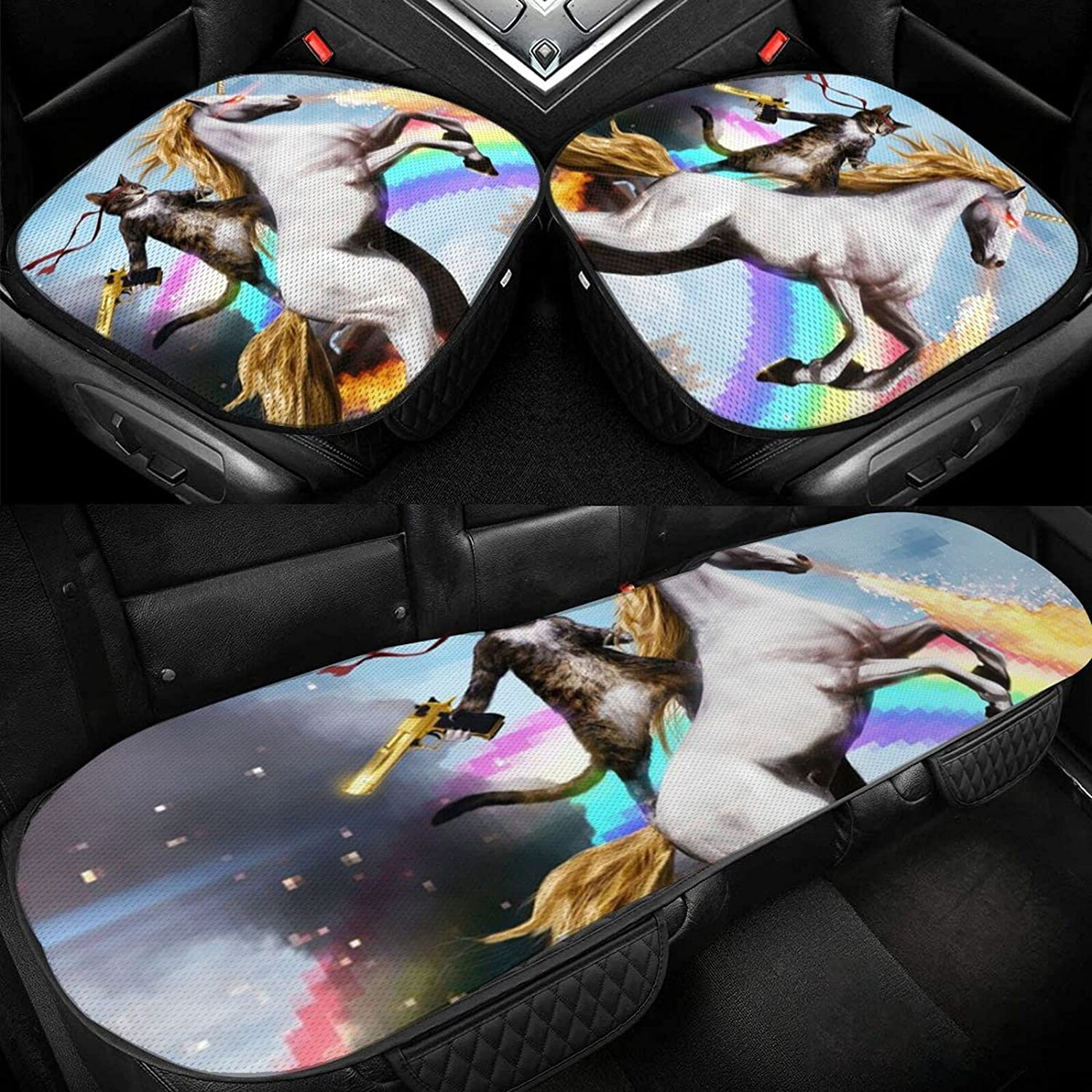 Sale Car Ice Pad Cat with A Rainbow Bre Unicorn Riding 2021 spring and summer new Non-Slip Gun