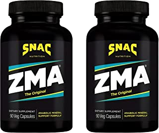 SNAC ZMA The Original Recovery and Sleep Supplement that Supports a Healthy Immune System, 180 Capsules (2 Pack of 90 Count)