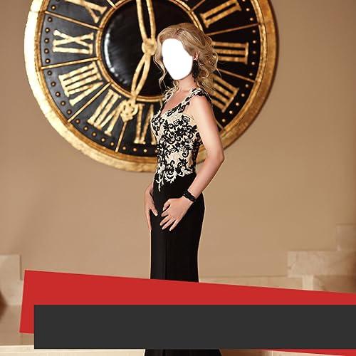 Femme Longue Robe Photo Montage