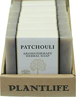 Plantlife, Patchouli Herbal Bar Soap, 100% Pure & Natural Aromatherapy, Value 6 Pack, 4 Ounces Each
