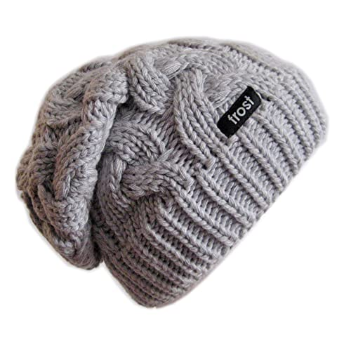 Frost Hats Warm Winter Beanie for Women Chunky Cable Knit Hat M179 cd84053b0f