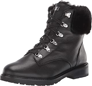 Lauren Ralph Lauren Women's LANESCOT Fashion Boot, Black/Black, 7.5 B US