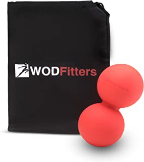 WODFitters Double Lacrosse Ball Peanut Massage Ball for Thoracic Spine - Upper Back, Neck, Scapula - Ideal for Mobility Work and Myofascial & Trigger Point Release Before and After WODs