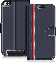 COODIO Funda Xiaomi Redmi 5A con Tapa, Funda Movil Xiaomi Redmi 5A, Funda Libro Xiaomi Redmi 5A Carcasa Magnético Funda para Xiaomi Redmi 5A, Azul Oscuro/Rojo