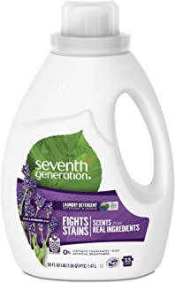 Seventh Generation Laundry Concentrate, Blue Eucalyptus & Lavender, 50-Ounce Bottles (Pack of 6)