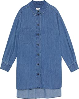 Zara Women Long Denim Shirt 8566/241