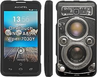 Rolleiflex Camera - Mobiflare Alcatel OneTouch Sonic 851L 7030Y Viper Slim Guard Armor Black Phone Case