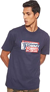 Tommy Jeans Men's Tjm Multi Corp Logo T-Shirt