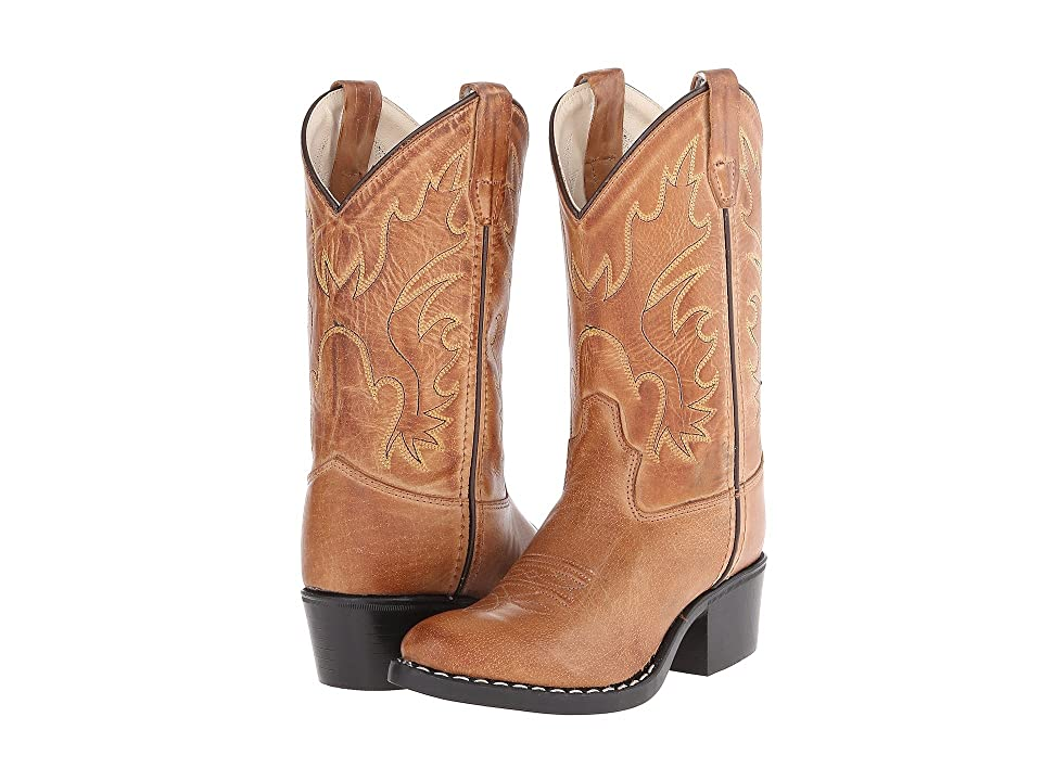 Old West Kids Boots J Toe Western Boot (Toddler/Little Kid) (Tan Canyon) Cowboy Boots