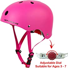 Kids Helmet – Multi-Sport for Skateboard Cycling Skate Scooter Roller Bicycle - Adjustable from Toddler to Youth for Boys and Girls Ages 3 to 7 - Certified for Safety and Comfort