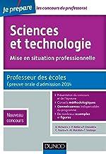 Sciences et technologie - Mise en situation professionnelle - Professeur des écoles - Admission 2014: Professeur des école...