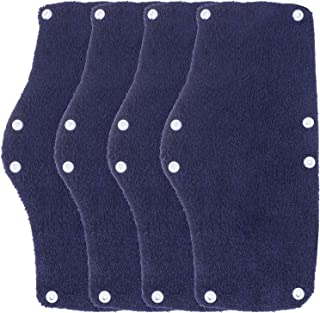 Xgood 4 Pack Cotton Sweatband Hard Hat Sweatband Washable Sweatband Reusable Sweat Absorber Hard Hat Liner Blue Sweatband ...