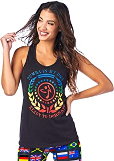 Zumba Workout High Neck Tank Activewear Graphic Dance Fitness Top For Women Camisa para Mujer