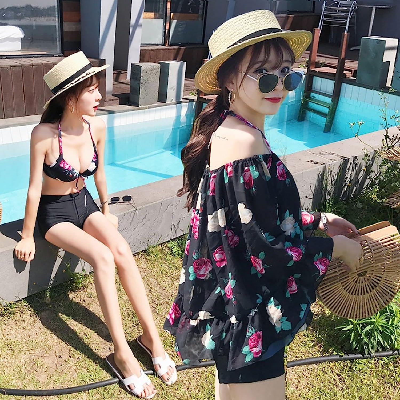 Swimsuit Swimsuit Female ThreePiece Bikini Blouse Conservative Thin Cover Belly Students Gathered Swimwear