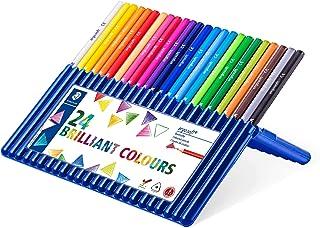 Staedtler Ergosoft Colored Pencils, Set of 24 Colors in Stand-up Easel Case (157SB24)