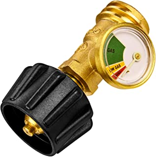 Flame King YSN212 Propane Gas Tank Level Indicator Check Guage, Glow In The Dark, Easy To Read, Leak Detector, Universal Fit