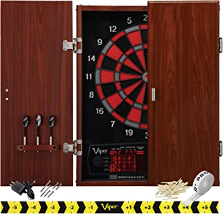 Viper by GLD Products Neptune Electronic Dartboard Cabinet Combo Pro Size Over 55 Games Large Auto-Scoring LCD Cricket Dis...