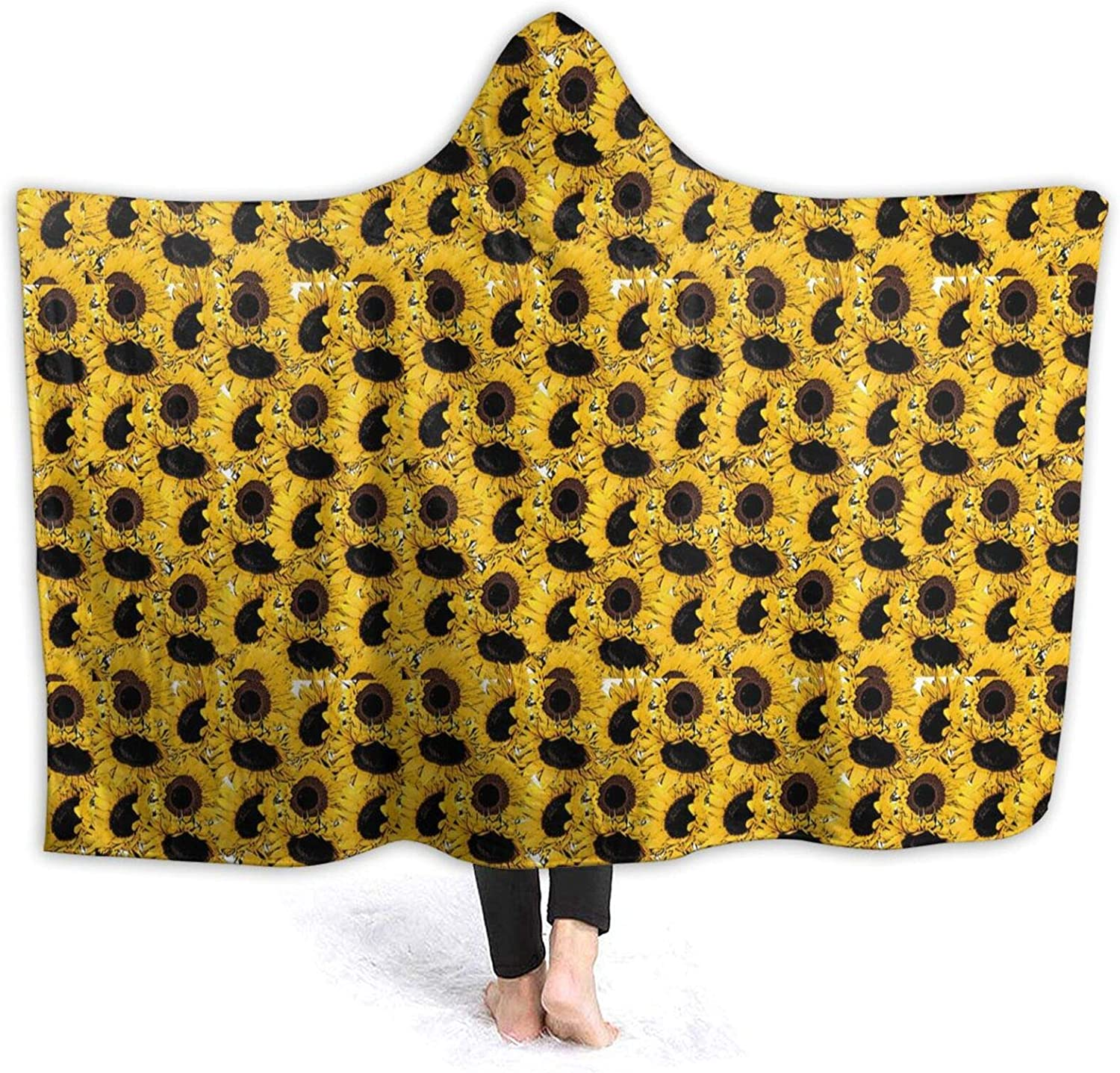 Discount is also underway Yellow Sunflower Wearable New Free Shipping Blanket Stylish Sofa Throw for