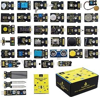 KEYESTUDIO 37 in 1 Sensor Kit Programming Starter Kit for Arduino Raspberry Pi Learning Project STEM Education, Electronic...
