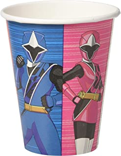 Amscan Power Rangers Ninja Steel Cups, 9 oz., Party Favor One Size, Multicolor