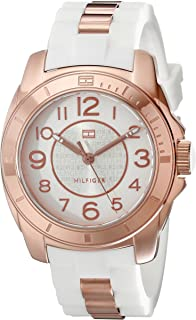 Women's 1781305 Rose Gold-Plated and Silicone Watch