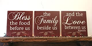 Bless The Food Before Us Wood Wallhanging Wood Kitchen Sign
