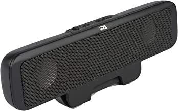 Cyber Acoustics Portable USB Bluetooth Speaker for Laptop Computer - Clip-On Rechargeable Bluetooth Sound Bar Designed for Laptops,Cell Phones and Portable use (CA-2885BT)
