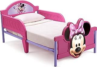 Delta Children 3D-Footboard Toddler Bed, Disney Minnie Mouse